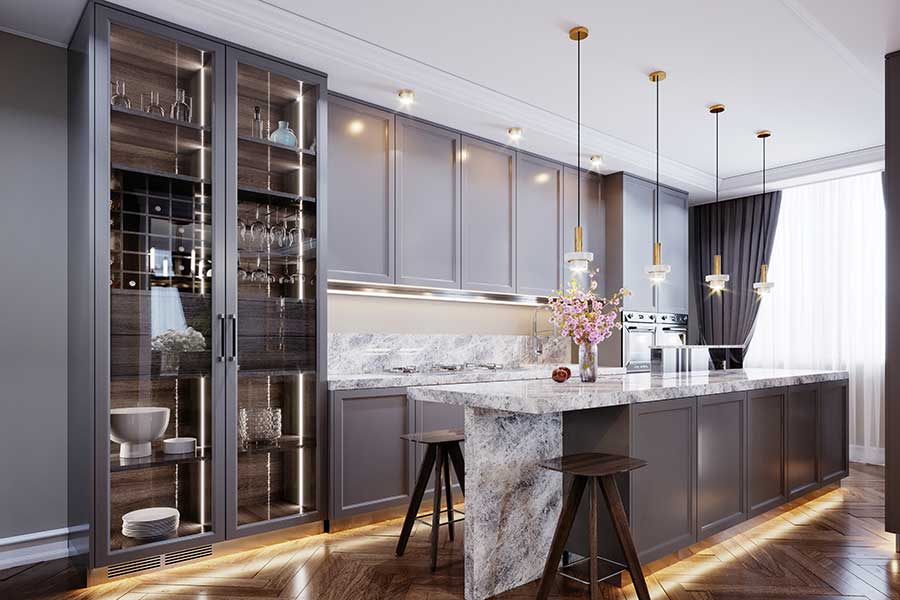 5 Game Changing Glass Design Trends For, Glass Kitchen Cupboard Doors Uk