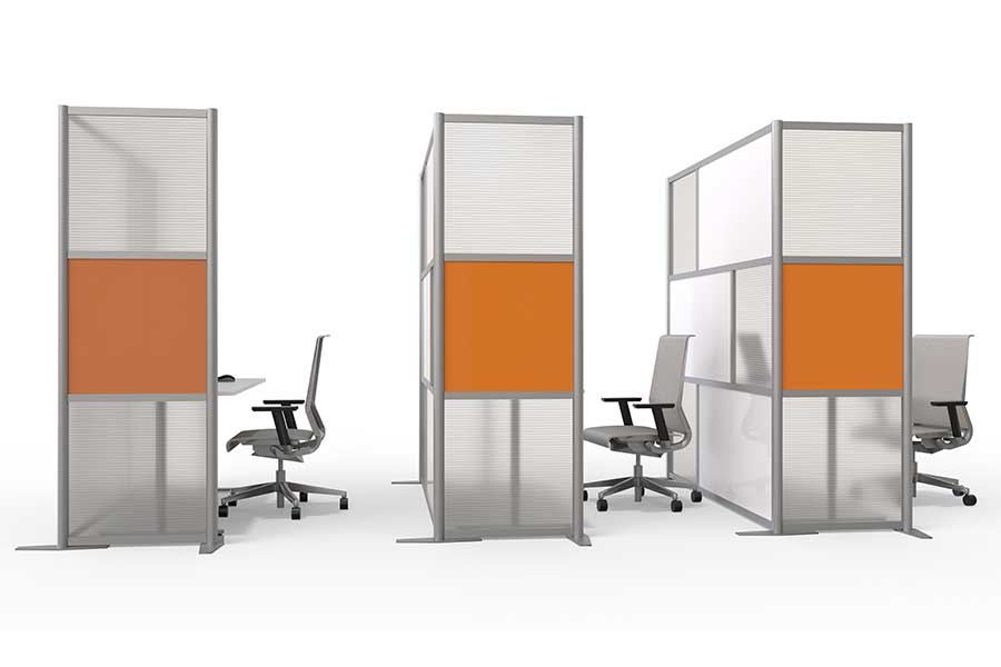 Portable glass office partitions