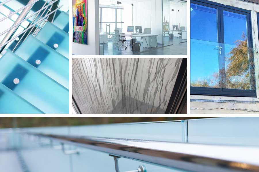 Examples of laminated glass products