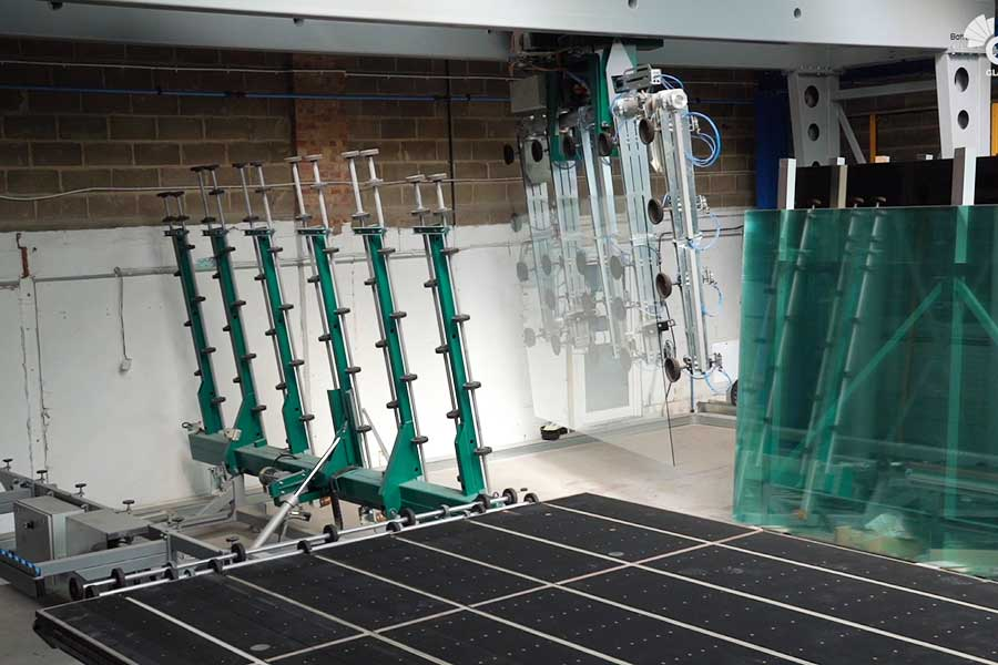 Automated glass storage at abc Glass Processing in Portsmouth
